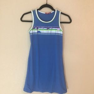 Girls xl by Op blue beachy tank dress no tags EUC